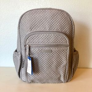 NWT Vera Bradley Iconic Campus Backpack Gray Denim